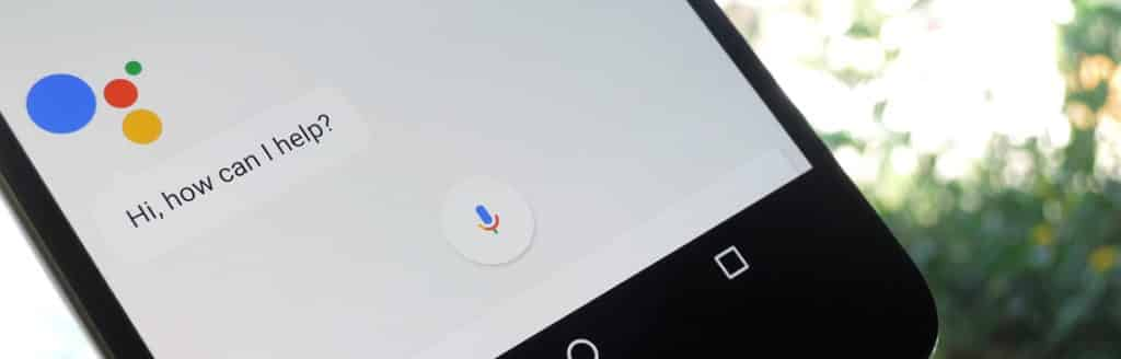 a mobile phone showing google assistant