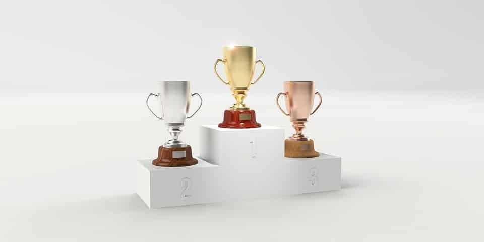 trophy podium