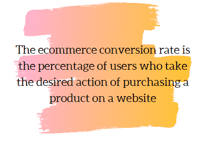 an explanation of term 'ecommerce conversion rate'